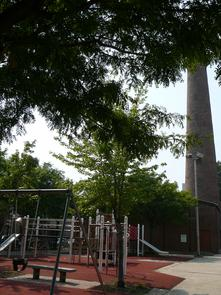 Sparks Shot Tower Playground. Image provided by Historical Society of Pennsylvania