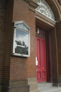 Emanuel Evangelical Lutheran Church front entrance. Image provided by Historical Society of Pennsylvania