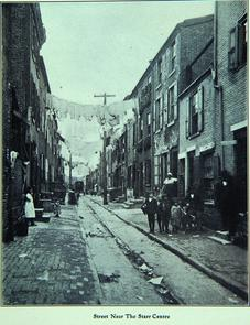 Street near Starr Centre. Image provided by Historical Society of Pennsylvania