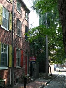 Beck Street houses. Image provided by Historical Society of Pennsylvania