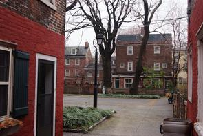 Workman's Place courtyard. Image provided by Historical Society of Pennsylvania