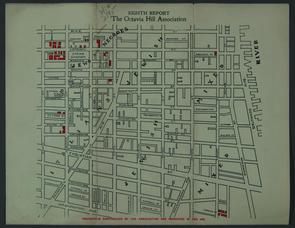 Map of Octavia Hill Properties. Image provided by Historical Society of Pennsylvania