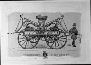 Weccacoe Fire Company. Image provided by Historical Society of Pennsylvania