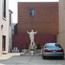 Statue of Jesus outside Church of St. Philip Neri. Image provided by Historical Society of Pennsylvania