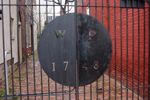 Mifflin Houses Workman's Place gate. Image provided by Historical Society of Pennsylvania