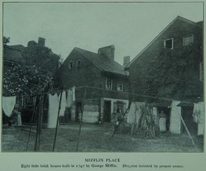 Mifflin Place. Image provided by Historical Society of Pennsylvania