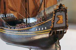 Model replica of the Kalmar Nyckel in Gloria Dei. Image provided by Historical Society of Pennsylvania