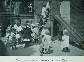 We slide in a corner of the crack. Image provided by Historical Society of Pennsylvania