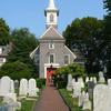 Gloria Dei (Old Swedes') Church Front Entrance and Graveyard. Image provided by Historical Society of Pennsylvania