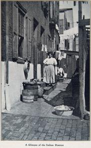 A Glimpse of the Italian District. Image provided by Historical Society of Pennsylvania