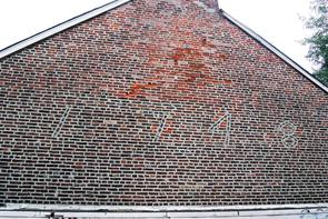 Brick wall at Workman's Place. Image provided by Historical Society of Pennsylvania