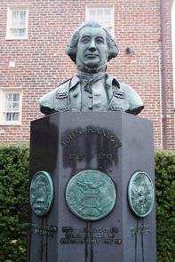 John Hanson statue. Image provided by Historical Society of Pennsylvania