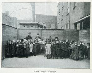 Penny Lunch Children. Image provided by Historical Society of Pennsylvania