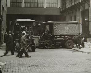 N. Snellenburg & Co. trucks. Image provided by Historical Society of Pennsylvania