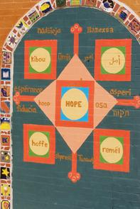 "Al-Aqsa mural: ""Hope"". Image provided by Historical Society of Pennsylvania"