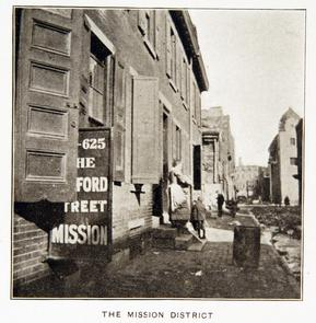 The Mission District. Image provided by Historical Society of Pennsylvania