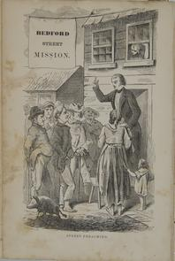Street preaching. Image provided by Historical Society of Pennsylvania