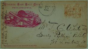 Philadelphia Athletics envelope. Image provided by Historical Society of Pennsylvania