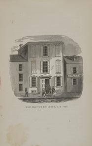 New mission nuilding [Sorrow's Circuit]. Image provided by Historical Society of Pennsylvania