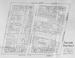 Map of the Italian District, 1904. Image provided by Historical Society of Pennsylvania