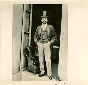 W.E.B. Du Bois at Paris Exposition, 1900. Image provided by W.E.B. Du Bois Library, University of Massachusetts Amherst