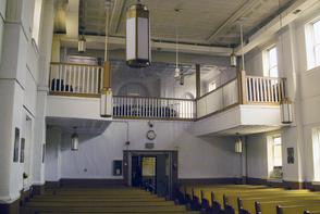 Interior of Phillips Temple Christian Methodist. Image provided by Historical Society of Pennsylvania