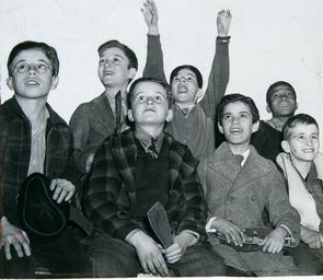 Snellenburg's Superman Tim Club. Image provided by Historical Society of Pennsylvania