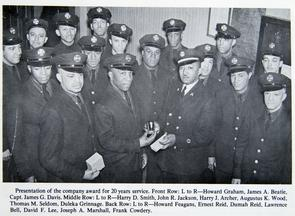 Engine 11, award presentation. Image provided by Fireman's Hall Museum