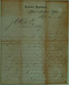 Letter from Charles R. Douglass to Jacob C. White Jr.. Image provided by Historical Society of Pennsylvania