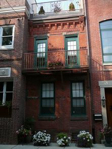 Housefronts on 600 Block of Kater Street. Image provided by Historical Society of Pennsylvania