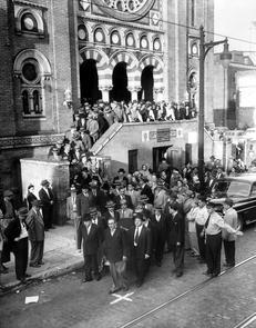 B'nai Abraham synagogue. Image provided by Temple University Urban Archives