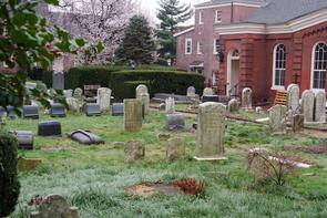 Gloria Dei burial ground. Image provided by Historical Society of Pennsylvania