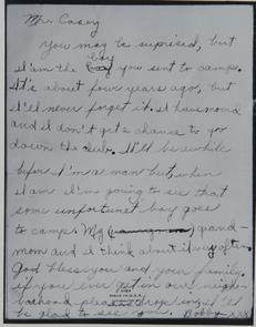 Letter about the Lighthouse, Philadelphia camp. Image provided by Historical Society of Pennsylvania