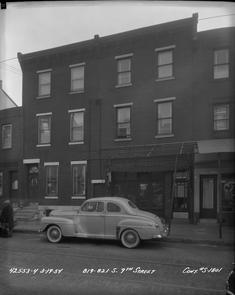 819 to 821 South 9th Street-Contract S-1801. Image provided by City of Philadelphia Department of Records