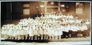 First Holy Communion, Madonna House. Image provided by Historical Society of Pennsylvania