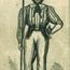 """A Full and Complete Account of the Late Awful Riots in Philadelphia"": Soldier from 1844 Nativist Riots. Image provided by Historical Society of Pennsylvania"