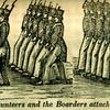 """""""A Full and Complete Account of the Late Awful Riots in Philadelphia"""": Detachment of Volunteers and the Boarders attached to the Princeton. Image provided by Historical Society of Pennsylvania"""