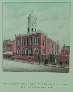 St. Augustine's Church. Image provided by Historical Society of Pennsylvania