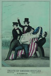 Death of George Shifler, in Kensington. Image provided by Historical Society of Pennsylvania