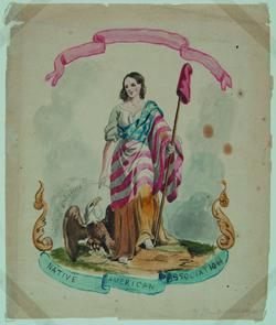 Banner for the Native American Association. Image provided by Historical Society of Pennsylvania