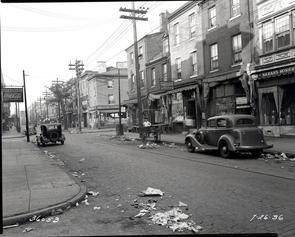 Curb Market, 4th Street and South Street to Christian Street, Kauffman Street to Queen Street. Image provided by City of Philadelphia Department of Records