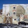 The Procession of St. Mary Magdalen de Pazzi mural. Image provided by Historical Society of Pennsylvania