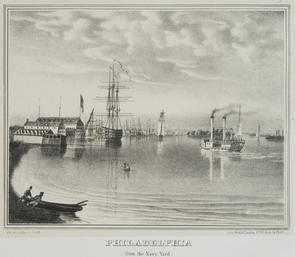 Philadelphia from the Navy Yard. Image provided by Historical Society of Pennsylvania