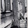 Waste pipe discharging beside wall of frame house. Image provided by Historical Society of Pennsylvania