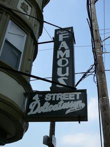 Famous 4th Street Delicatessen sign. Image provided by Historical Society of Pennsylvania