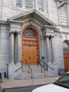 St. Mary Magdalen de Pazzi church exterior. Image provided by Historical Society of Pennsylvania