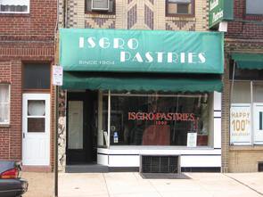 Isgro Pastries storefront. Image provided by Historical Society of Pennsylvania