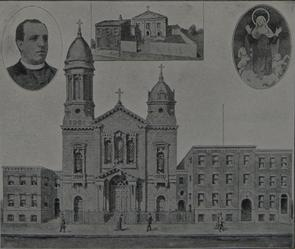 Chiesa Parrocchiale Italiana di Santa Maria de Pazzi. Image provided by Historical Society of Pennsylvania