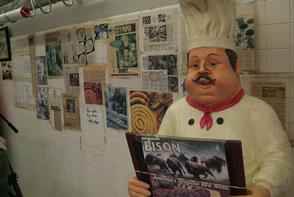 Italian chef figure at D'Angelo Brothers Meat Market. Image provided by Historical Society of Pennsylvania