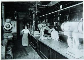 Interior of Luigi Fiorella Meat Market. Image provided by Historical Society of Pennsylvania